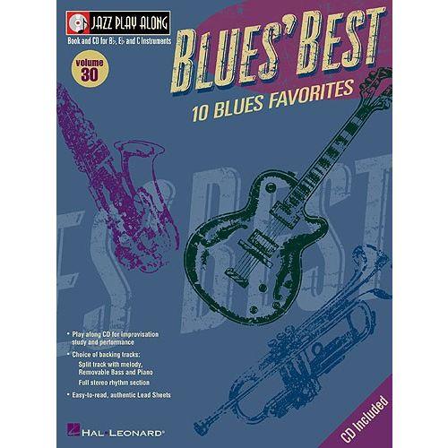 HAL LEONARD JAZZ PLAYALONG VOLUME 30 BLUES' BEST + CD - ALL INSTRUMENTS