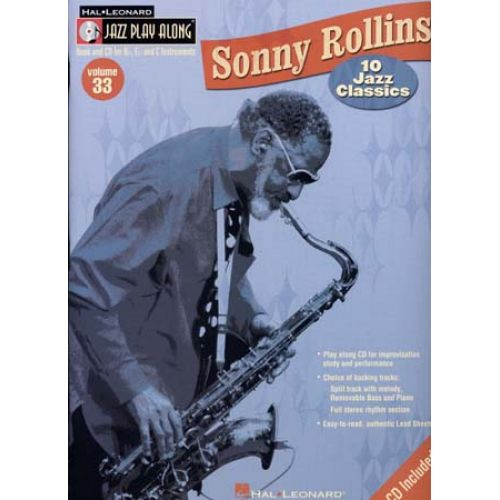 HAL LEONARD JAZZ PLAY ALONG VOL.33 SONNY ROLLINS BB, EB, C INST.CD
