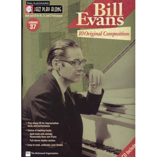 HAL LEONARD JAZZ PLAY ALONG VOL.37 BILL EVANS BB, EB, C INST. CD