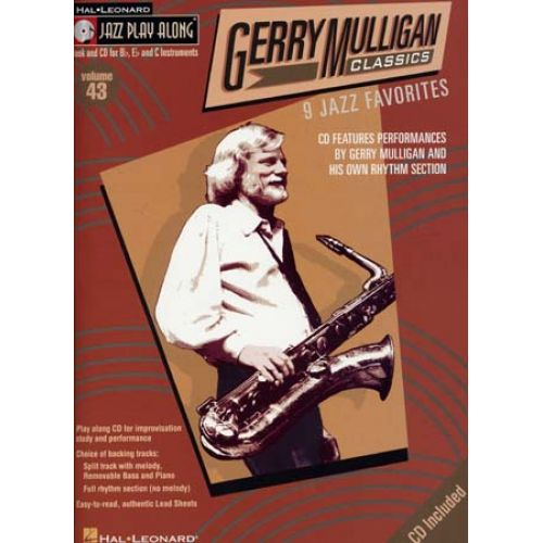 HAL LEONARD JAZZ PLAY ALONG VOL.43 GERRY MULLIGAN BB, EB, C INST. CD