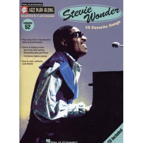 HAL LEONARD WONDER STEVIE - JAZZ PLAY ALONG VOL.52 + CD - Bb, Eb, C INSTRUMENTS
