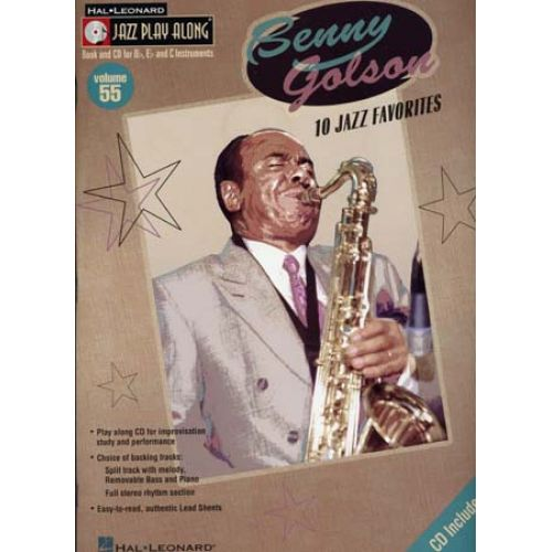 HAL LEONARD GOLSON BENNY - JAZZ PLAY ALONG VOL.55 + CD - Bb, Eb, C INSTRUMENTS