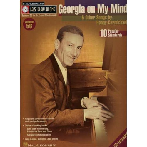 HAL LEONARD JAZZ PLAY ALONG VOL.56 GEORGIA ON MY MIND & OTHER SONGS CD