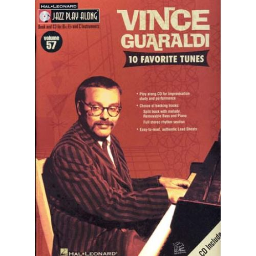 HAL LEONARD GUARGALDI VINCE - JAZZ PLAY ALONG VOL.57 + CD - Bb, Eb, C INSTRUMENTS