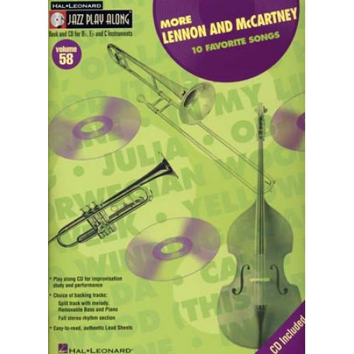 HAL LEONARD LENNON JOHN/MC CARTNEY PAUL - JAZZ PLAY ALONG VOL.58 + CD - Bb, Eb, C INSTRUMENTS