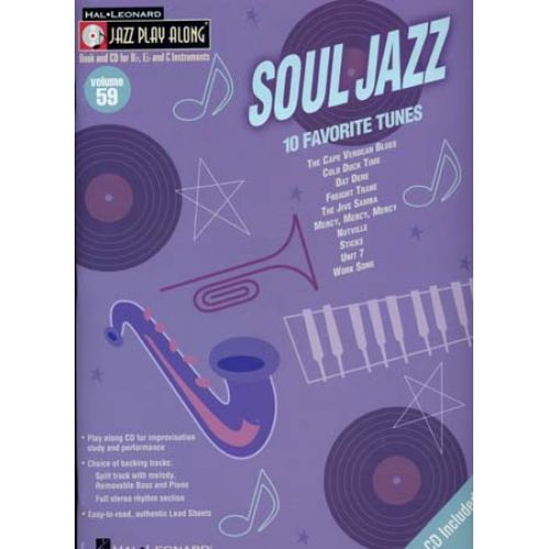 HAL LEONARD JAZZ PLAY ALONG VOL.59 SOUL JAZZ BB, EB, C INST. CD