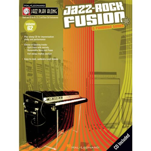 HAL LEONARD JAZZ PLAY ALONG VOL.62 JAZZ ROCK FUSION BB, EB, C INST. CD