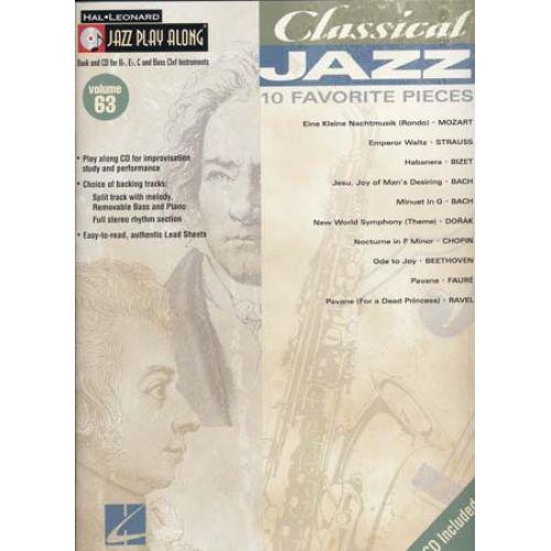 HAL LEONARD JAZZ PLAY ALONG VOL.63 CLASSICAL JAZZ + CD - Bb, Eb, C INSTRUMENTS