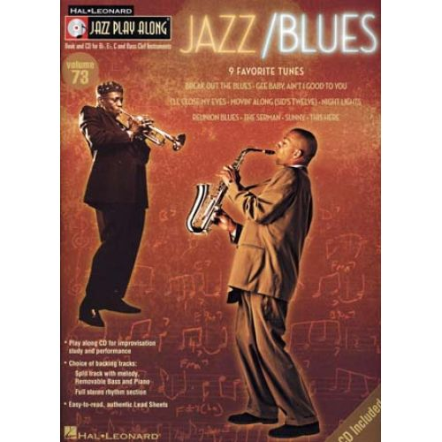 HAL LEONARD JAZZ PLAY ALONG VOL.73 - JAZZ/BLUES + CD - Bb, Eb, C INSTRUMENTS