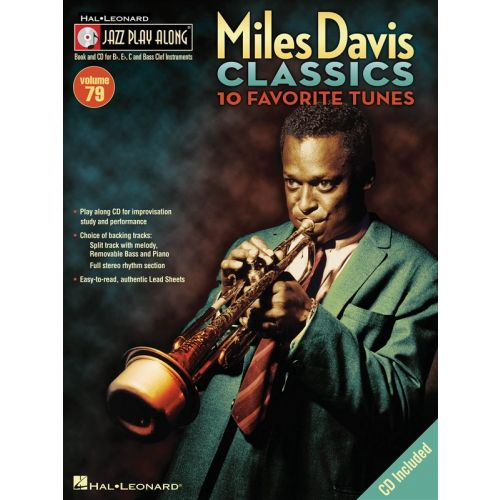 HAL LEONARD MILES DAVIS CLASSICS - JAZZ PLAY-ALONG VOLUME 79 - ALL INSTRUMENTS
