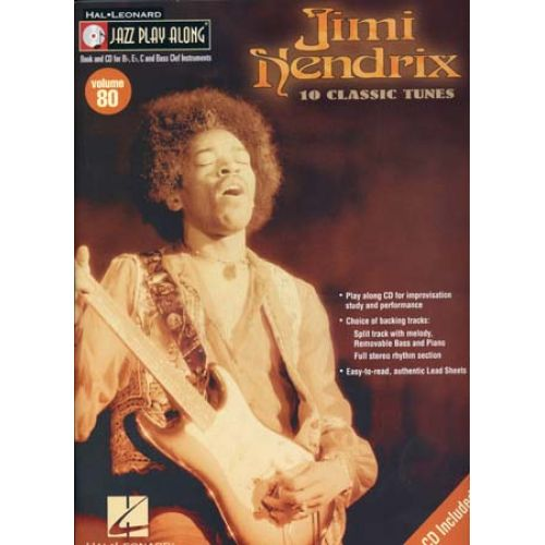 HAL LEONARD JAZZ PLAY ALONG VOL.80 HENDRIX JIMI + CD