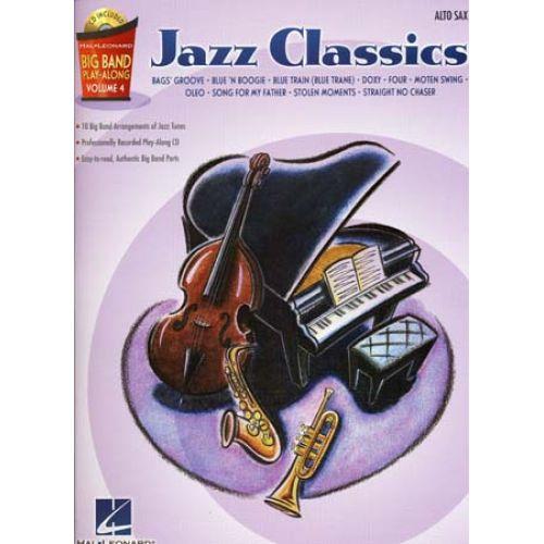 HAL LEONARD BIG BAND PLAY ALONG VOL.4 JAZZ CLASSICS ALTO SAX + CD