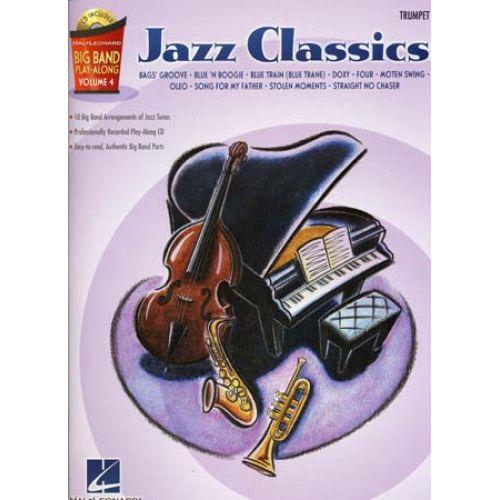 HAL LEONARD BIG BAND PLAY ALONG VOL.4 JAZZ CLASSICS + CD - TROMPETTE