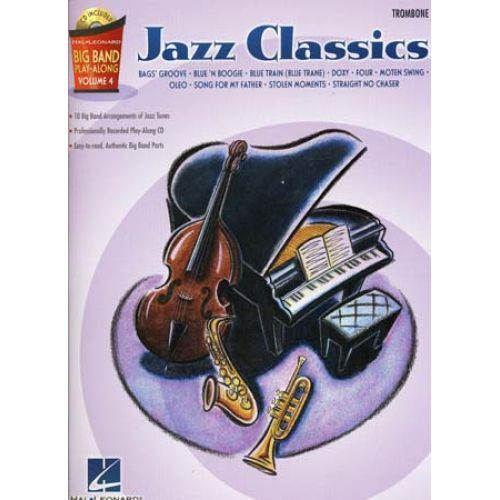 HAL LEONARD BIG BAND PLAY ALONG VOL.4 JAZZ CLASSICS TROMBONE + CD