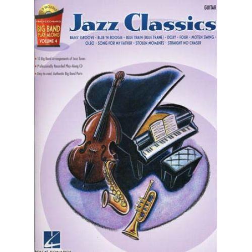 HAL LEONARD BIG BAND PLAY ALONG VOL.4 JAZZ CLASSICS GUITAR + CD