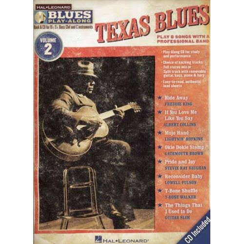 HAL LEONARD BLUES PLAY ALONG VOL.2 - TEXAS BLUES + CD - GUITARE