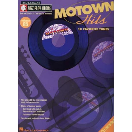 HAL LEONARD JAZZ PLAY ALONG VOL.85 - MOTOWN HITS + CD - Bb, Eb, C INSTRUMENTS