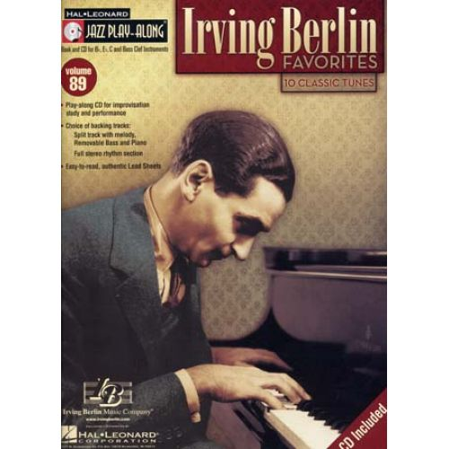 HAL LEONARD IRVING BERLIN - JAZZ PLAY ALONG VOL.89 + CD - Bb, Eb, C INSTRUMENTS