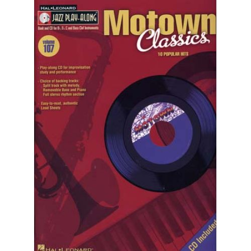 HAL LEONARD JAZZ PLAY ALONG VOL.107 - MOTOWN CLASSICS + CD - Bb, Eb, C INSTRUMENTS