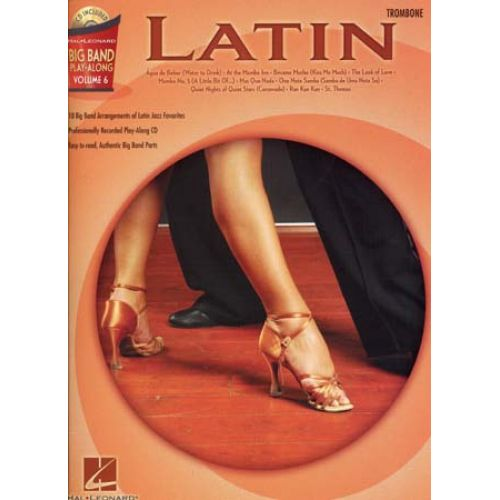 HAL LEONARD BIG BAND PLAY ALONG VOL.6 LATIN + CD - TROMBONE