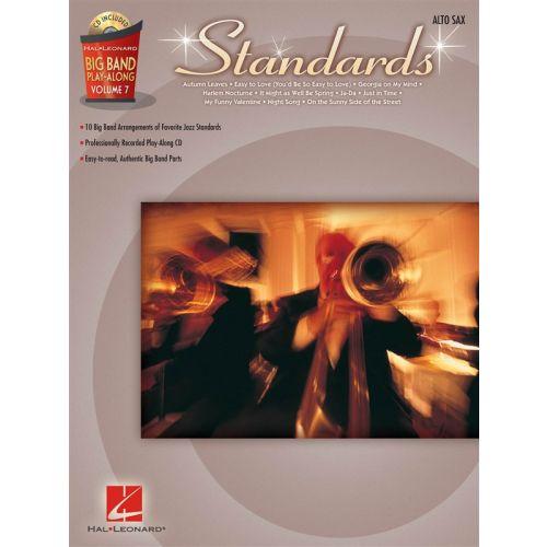 HAL LEONARD BIG BAND PLAY-ALONG VOLUME 7 - STANDARDS - ALTO SAXOPHONE