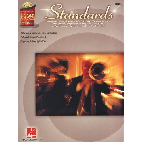 HAL LEONARD BIG BAND PLAY ALONG VOLUME 7 STANDARDS PIANO + CD - PIANO SOLO