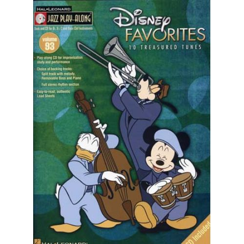 HAL LEONARD JAZZ PLAY ALONG VOL.93 DISNEY FAVORITES + CD