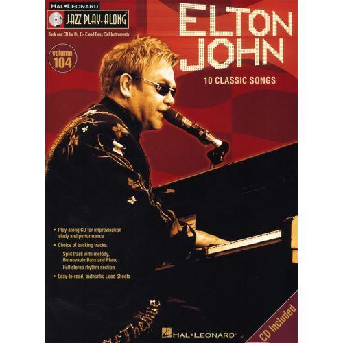 HAL LEONARD JAZZ PLAY ALONG VOLUME 104 - ELTON JOHN + CD - BASS CLEF INSTRUMENTS