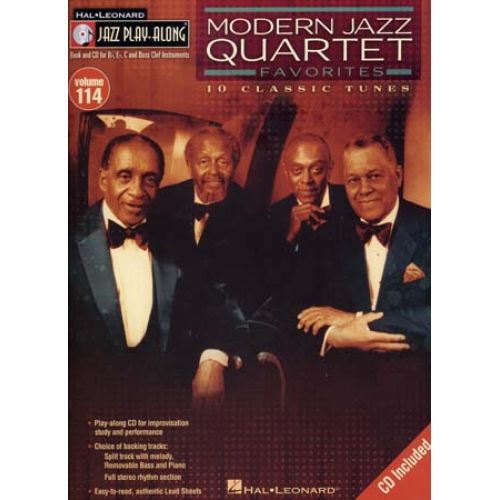HAL LEONARD JAZZ PLAY ALONG VOL.114 - MODERN JAZZ QUARTET + CD - Bb, Eb, C INSTRUMENTS