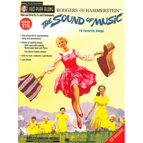 HAL LEONARD JAZZ PLAY-ALONG VOLUME 115 THE SOUND OF MUSIC + CD - ALL INSTRUMENTS