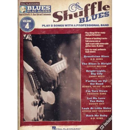 HAL LEONARD BLUES PLAY ALONG VOL.4 - SHUFFLE BLUES + CD - GUITARE