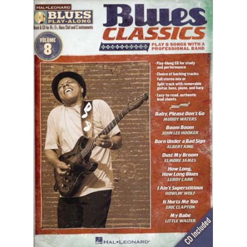 HAL LEONARD BLUES PLAY ALONG VOL.8 - BLUES CLASSICS + CD