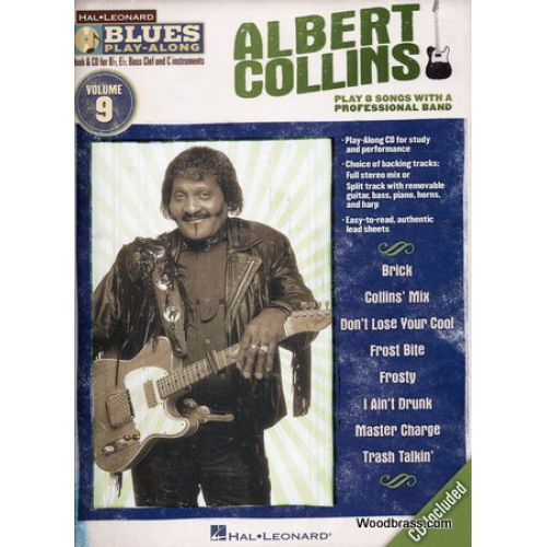 HAL LEONARD BLUES PLAY ALONG VOL.9 ALBERT COLLINS Bb, Eb, C INST. + CD