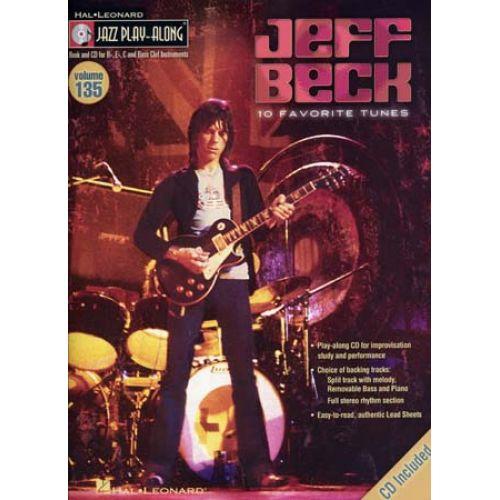 HAL LEONARD BECK JEFF - JAZZ PLAY ALONG VOL.135 + CD - Bb, Eb, C INSTRUMENTS