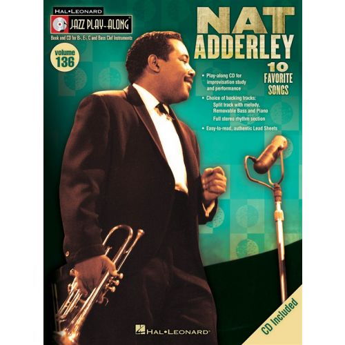 HAL LEONARD JAZZ PLAY ALONG VOLUME 136 ADDERLEY NAT ALL INST + CD - ALL INSTRUMENTS