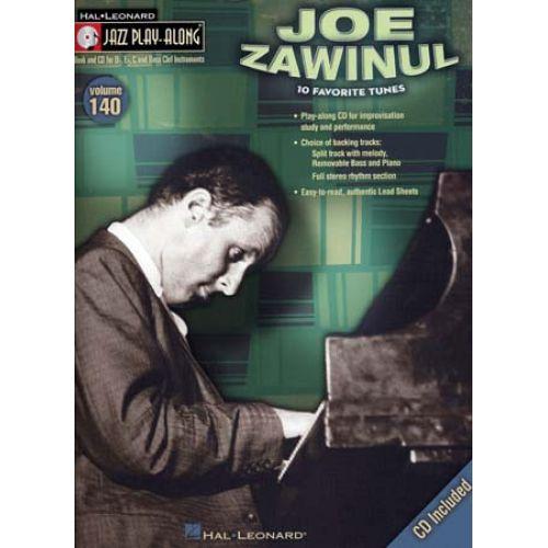 HAL LEONARD JAZZ PLAY ALONG VOL.140 JOE ZAWINUL Bb, Eb, C INSTRUMENT + CD