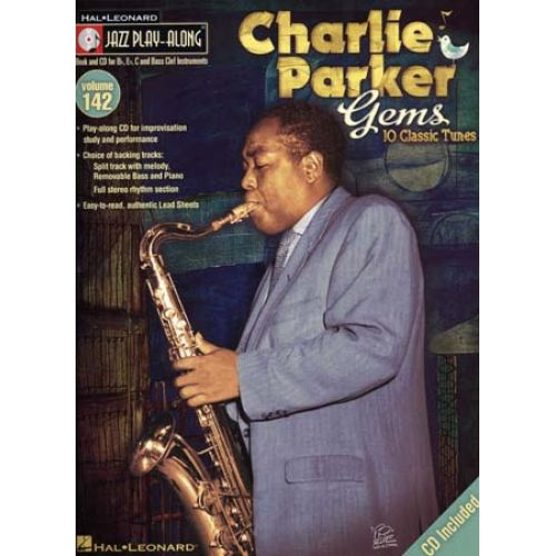 HAL LEONARD PARKER CHARLIE - JAZZ PLAY ALONG VOL.142 + CD - TOUS INSTRUMENTS