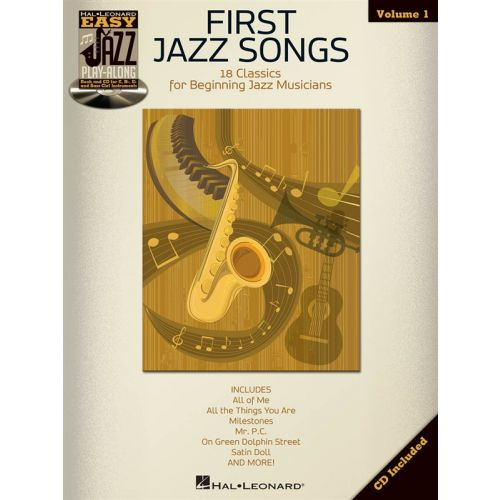 HAL LEONARD EASY JAZZ PLAY ALONG VOLUME 1 FIRST JAZZ SONGS + CD - BASS CLEF INSTRUMENTS