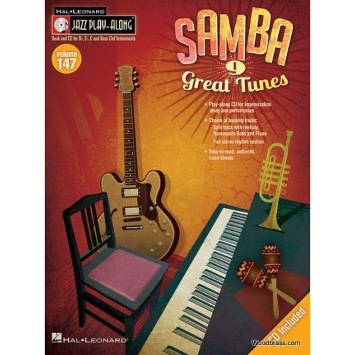 HAL LEONARD JAZZ PLAY ALONG VOL.147 SAMBA - BB, EB, C INST. CD