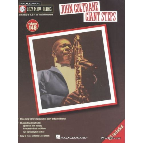 HAL LEONARD JAZZ PLAY ALONG VOL.149 JOHN COLTRANE - GIANT STEPS - BB, EB, C INST. CD