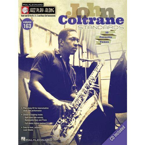HAL LEONARD JAZZ PLAY ALONG VOL.163 - JOHN COLTRANE STANDARDS - BB, EB, C INST. + CD