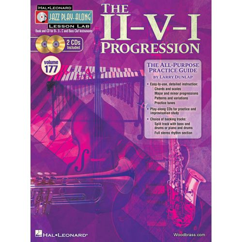 HAL LEONARD JAZZ PLAY ALONG LESSON LAB VOL.177 - THE II-V-I- PROGRESSION