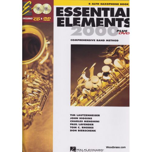 HAL LEONARD ESSENTIAL ELEMENTS 2000 LIVRE 1 - SAXOPHONE ALTO