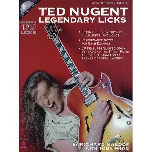 HAL LEONARD LEGENDARY LICKS TED NUGENT + CD - GUITAR TAB