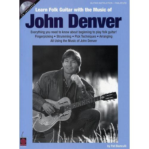 HAL LEONARD LEARN FOLK GUITAR WITH THE MUSIC OF JOHN DENVER + CD - GUITAR TAB