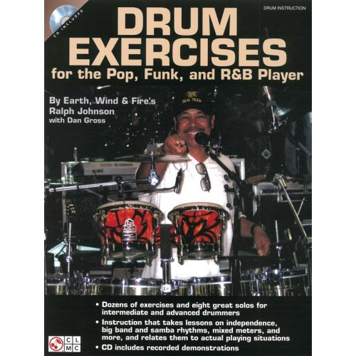CHERRY LANE DRUM EXERCISES FOR THE POP, FUNK AND R&B PLAYER DRUMS + CD - DRUMS