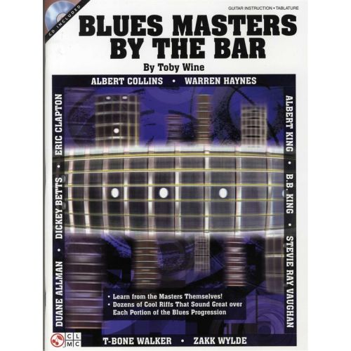 CHERRY LANE TOBY WINE BLUES MASTERS BY THE BAR + CD - GUITAR