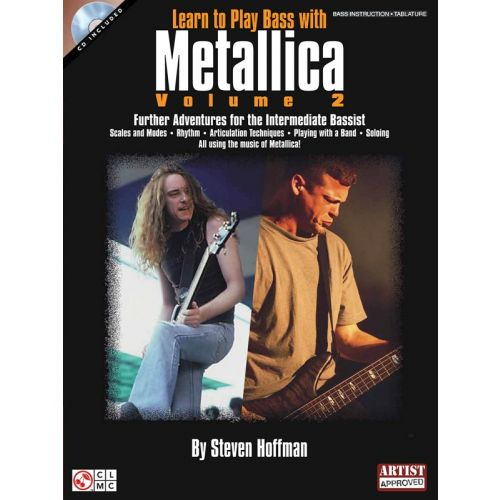 HAL LEONARD LEARN TO PLAY BASS WITH METALLICA VOLUME 2 - GUITAR TAB