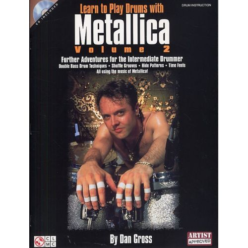 HAL LEONARD LEARN TO PLAY DRUMS WITH METALLICA VOLUME 2 + CD - DRUMS