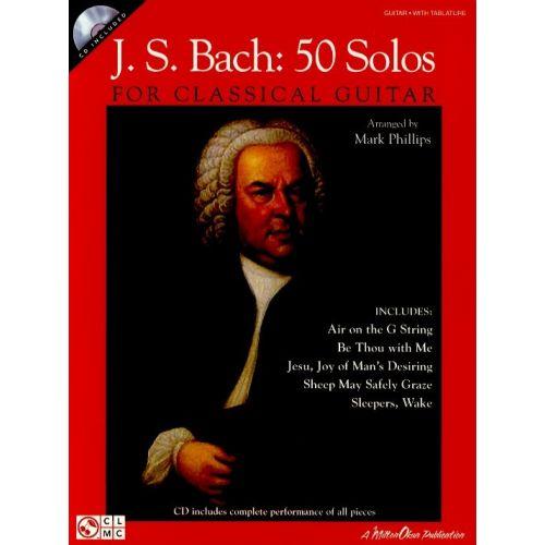 HAL LEONARD J.S. BACH 50 SOLOS FOR CLASSICAL GUITAR + CD - GUITAR